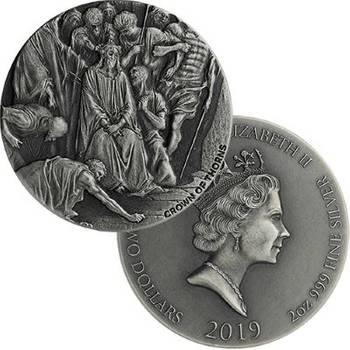 2oz 2019 Biblical Series Crown Of Thorns Silver Coin (Brand New Coins)