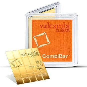 20gram (20x 1g) Valcambi CombiBar Gold Bullion Bar (Brand New Bars)