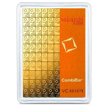 100gram (100x 1g) Valcambi CombiBar Gold Bullion Bar (Brand New Bars)