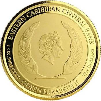 1oz 2018 St. Kitts & Nevis Brown Pelican Gold Bullion Coin (Brand New Coins)