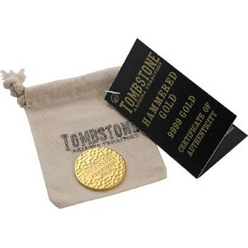 1 oz Scottsdale Tombstone Hammered Gold Bullion Bar