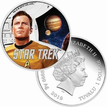 1 oz 2019 Star Trek The Original Series Kirk Silver Proof Coin