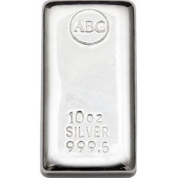 10 oz ABC Silver Bullion Cast Bar