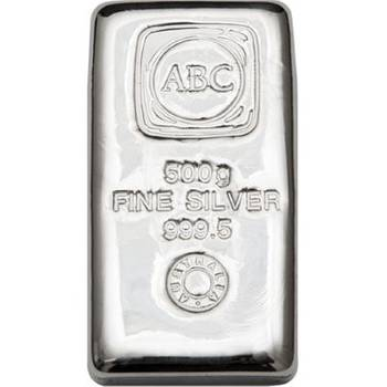 500 g ABC Silver Bullion Cast Bar
