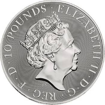 10oz 2019 Queen's Beasts Black Bull Of Clarence Silver Bullion Coin (Brand New Coins)