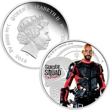 1oz 2019 Suicide Squad Deadshot Silver Proof Coin