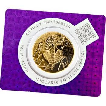 1 oz 2017 Republic of Chad King Tut Gold Bullion Coin