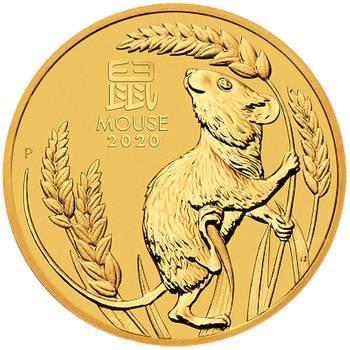 1/2 oz 2020 Australian Lunar Year of the Mouse Gold Bullion Coin