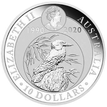 10oz 2020 Australian Kookaburra Silver Bullion Coin (Brand New Coins)