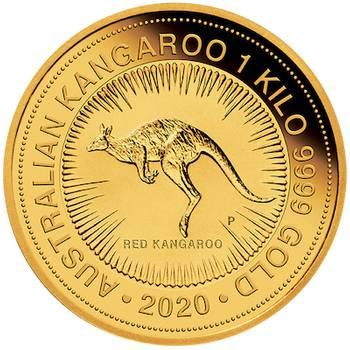1kg 2020 Australian Kangaroo Gold Bullion Coin Perth Mint