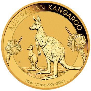1/10 oz 2020 Australian Kangaroo Gold Bullion Coin