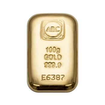 100gram ABC Cast Gold Bullion Bar