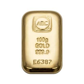 100gram ABC Cast Gold Bullion Bar  (Brand New Bars)