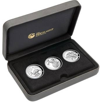 1 oz 2019 Australian High Relief Silver Proof Three-Coin Collection