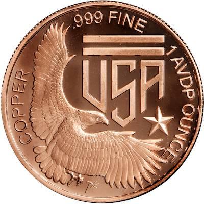 1oz AVDP Silver American Eagle Copper Round Master Box