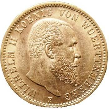1900 German Wurttemberg Wilhelm II 20 Mark Gold Coin