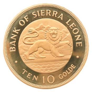 1975 Sierra Leone 10 Golde Gold Coin