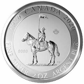 2 oz 2020 Royal Canadian Mounted Police Silver Bullion Coin
