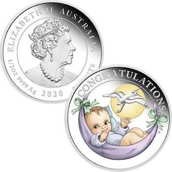 1/2 oz 2020 Newborn Silver Proof Coin