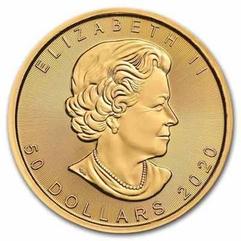 1 oz 2020 Canadian Maple Leaf Gold Bullion Coin