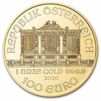1 oz 2020 Austrian Philharmonic Gold Bullion Coin