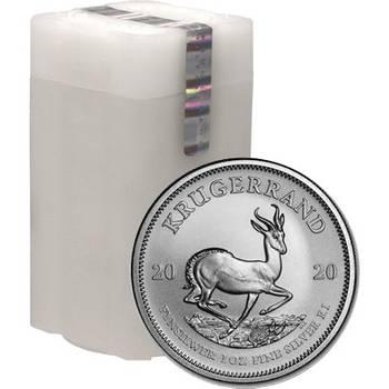 1oz 2020 South Africa Krugerrand Silver Bullion Coin Tube of 25 Coins (25oz)