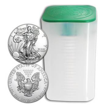 1 oz 2020 American Eagle Silver Bullion - Mint Tube of 20 Coins
