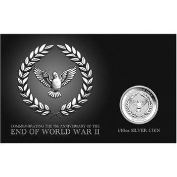 1/10 oz 2020 End of WWII 75th Anniversary Silver Coin In Card
