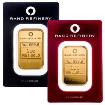 1 oz Rand Refinery Gold Bullion Minted Bar