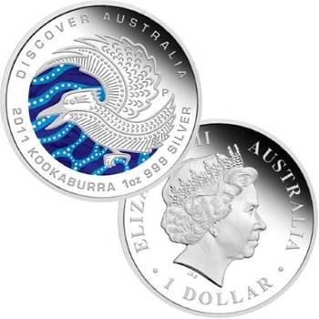 1 oz 2011 Perth Mint Discover Australia Series Kookaburra Silver Proof Coin
