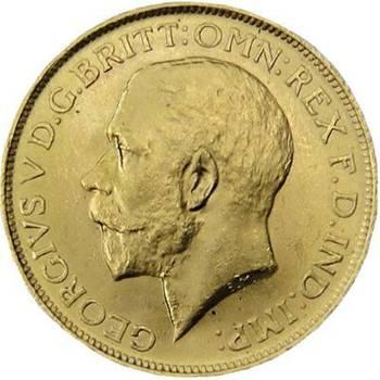 1920 P Australia King George V St George Sovereign Gold Coin