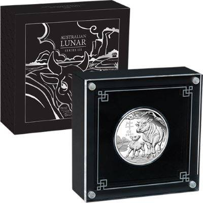 1 oz 2021 Silver Australian Lunar Year Of The Ox Proof Coin