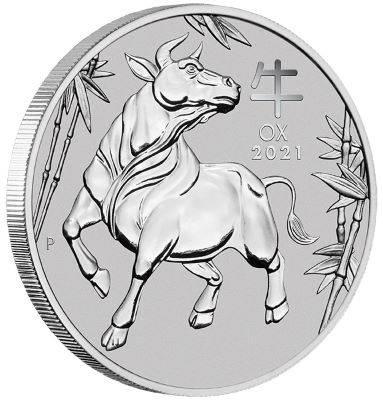 1 oz 2021 Australian Year Of The Ox Platinum Bullion Coin