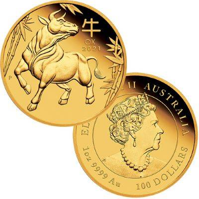 1 oz 2021 Australian Lunar Year Of The Ox Gold Proof Coin