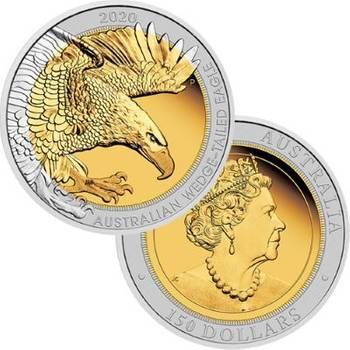 1.5 oz 2020 Bi-Metal Australian Wedge-Tailed Eagle Proof Coin
