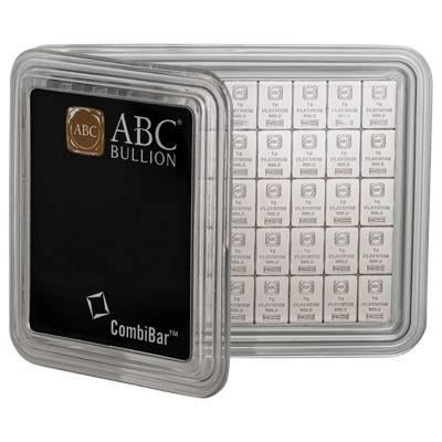 50 g (50 x 1g) ABC Combibar Platinum Bullion Minted Bar