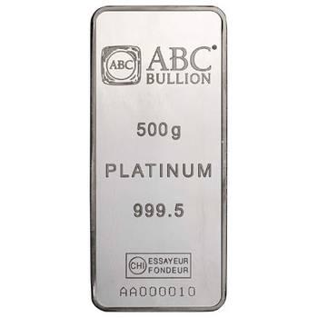 500 g ABC Platinum Bullion Minted Bar