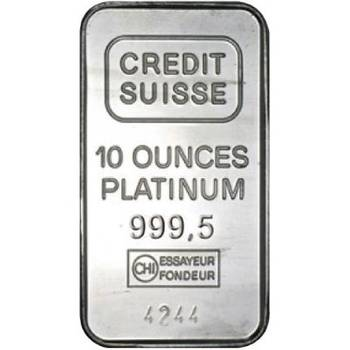 10 oz Credit Suisse Minted Platinum Bar