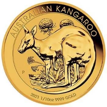 1/10 oz 2021 Australia Kangaroo Gold Bullion Coin