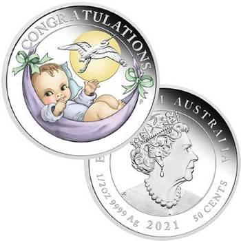 1/2 oz 2021 Newborn Silver Proof Coin