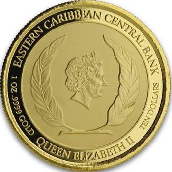 1 oz 2019 Dominica The Nature Isle Gold Bullion Coin