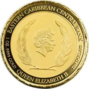1 oz 2020 St. Lucia Whiptail Lizard Gold Bullion Coin