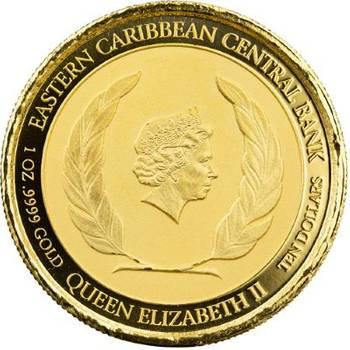1 oz 2020 Anguilla Coat of Arms Gold Bullion Coin