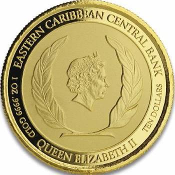1 oz 2020 St. Kitts & Nevis Siege of Brimstone Hill Gold Bullion Coin