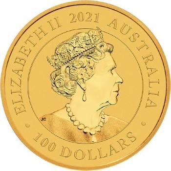 1 oz 2021 Australia Swan Gold Bullion Coin
