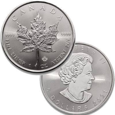 1oz 2021 Canadian Maple Leaf Silver Bullion Coin 500 oz Monster Box