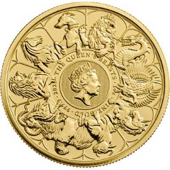 1 oz 2021 Royal Mint The Queens Beast Completer Gold Bullion Coin