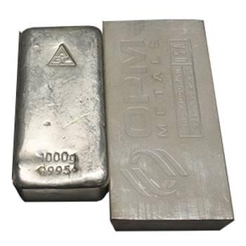 1 kg Bullion Silver Cast Bar-Mixed Brands