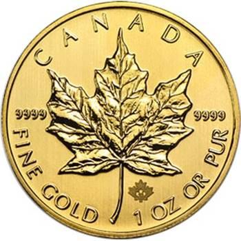 1oz Canadian Maple Leaf Gold Bullion Coin  - Dates of our Choice
