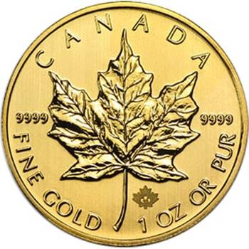 1 oz Canadian Maple Leaf Gold Bullion Coin - Mixed Dates